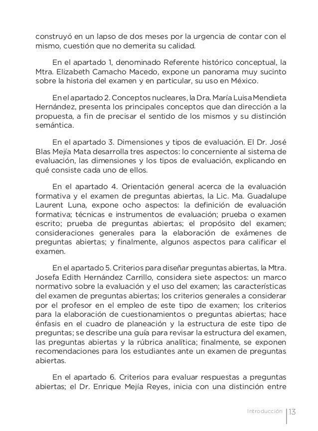 16 Examen de preguntas abiertas Orientaciones para su elaboración Acuerdo 696 de la SEP no de verificación. En fin, es imp...