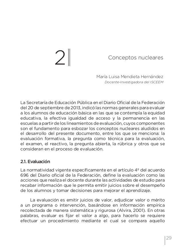32 Examen de preguntas abiertas Orientaciones para su elaboración Acuerdo 696 de la SEP • Ensayo: interpretación o explic...