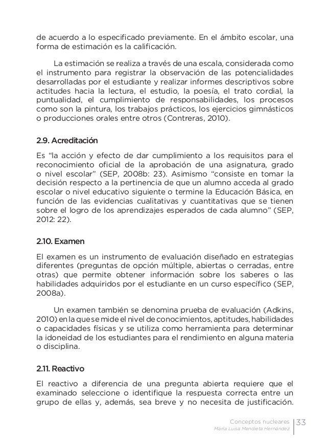 36 Examen de preguntas abiertas Orientaciones para su elaboración Acuerdo 696 de la SEP Hurtado, M. (1980). Pruebas de ren...