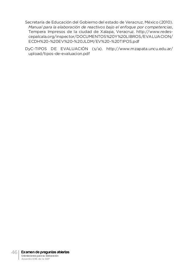 49Orientación general acerca de la evaluación formativa y el examen de preguntas abiertas Ma. Guadalupe Laurent Luna Apren...