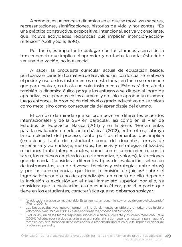 52 Examen de preguntas abiertas Orientaciones para su elaboración Acuerdo 696 de la SEP • Análisis del desempeño. Son aqu...