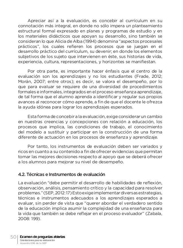 53Orientación general acerca de la evaluación formativa y el examen de preguntas abiertas Ma. Guadalupe Laurent Luna Mapas...