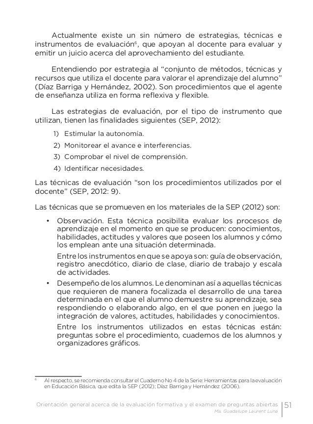 54 Examen de preguntas abiertas Orientaciones para su elaboración Acuerdo 696 de la SEP Los exámenes se clasifican por su ...