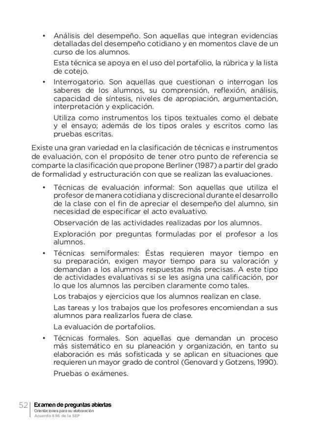 55Orientación general acerca de la evaluación formativa y el examen de preguntas abiertas Ma. Guadalupe Laurent Luna conoc...