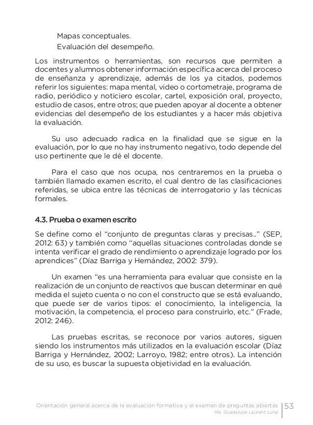 56 Examen de preguntas abiertas Orientaciones para su elaboración Acuerdo 696 de la SEP porque exigen que se usen de modo ...