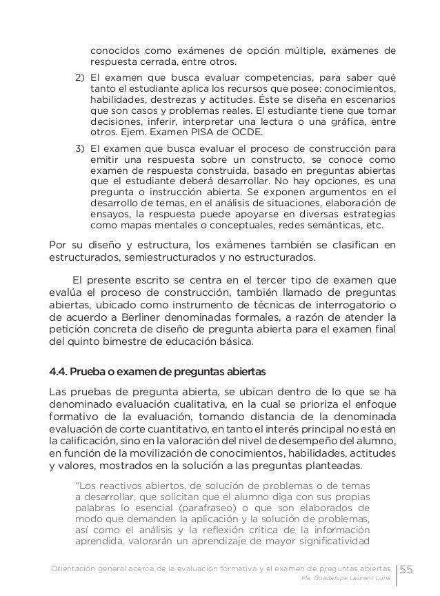 58 Examen de preguntas abiertas Orientaciones para su elaboración Acuerdo 696 de la SEP • El examen debe ser coherente co...
