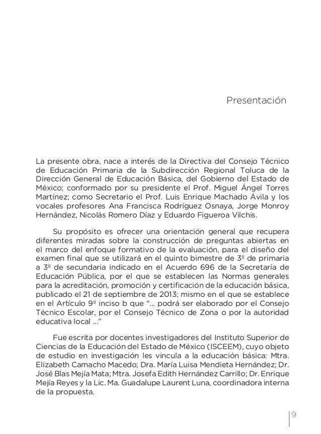 12 Examen de preguntas abiertas Orientaciones para su elaboración Acuerdo 696 de la SEP es un detonante para repensar el t...