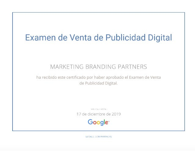 Marketing Branding Examen de Venta de Publicidad Digital