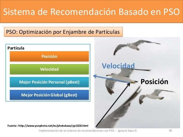 Implementación de un sistema de recomendaciones con PSO