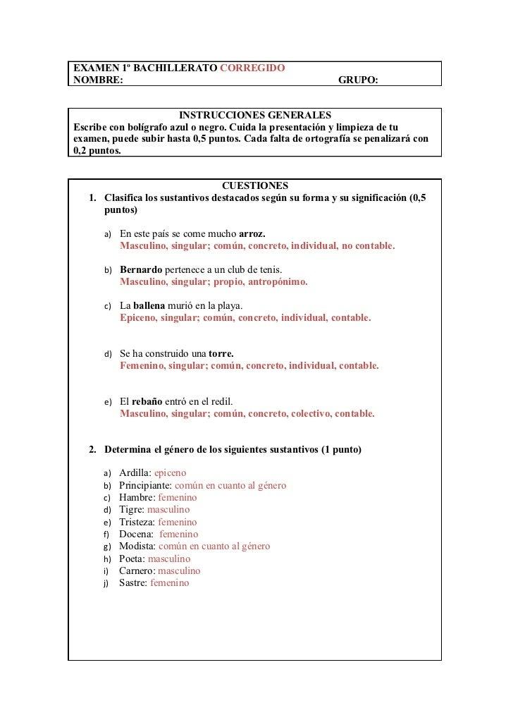 EXAMEN 1º BACHILLERATO CORREGIDONOMBRE:                                                     GRUPO:                        ...