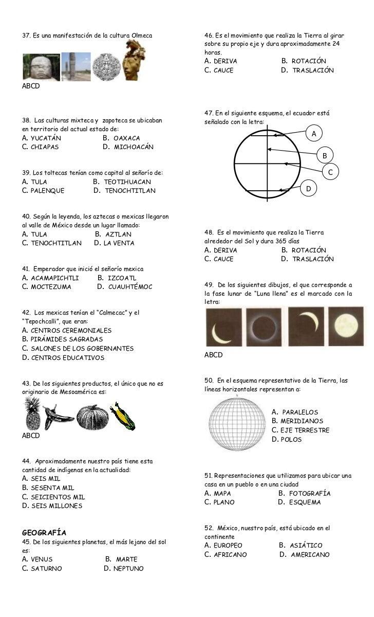 Examen 1er bimestre cuarto grado1 for El cuarto de tula letra