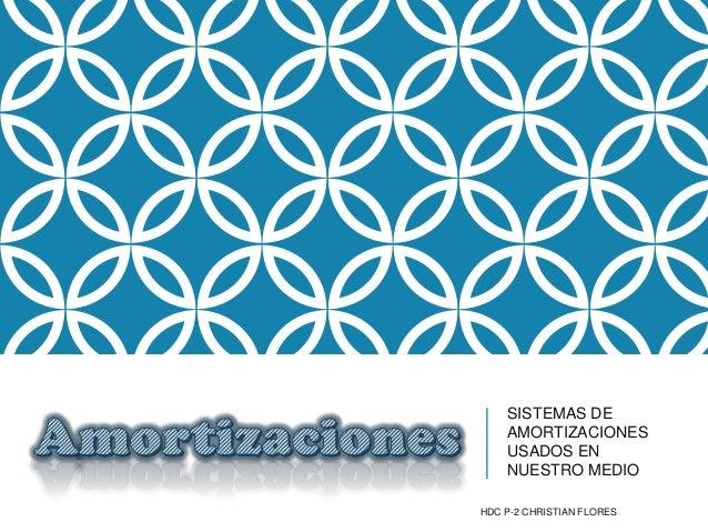 SISTEMAS DE AMORTIZACIONES USADOS EN NUESTRO MEDIO HDC P-2 CHRISTIAN FLORES