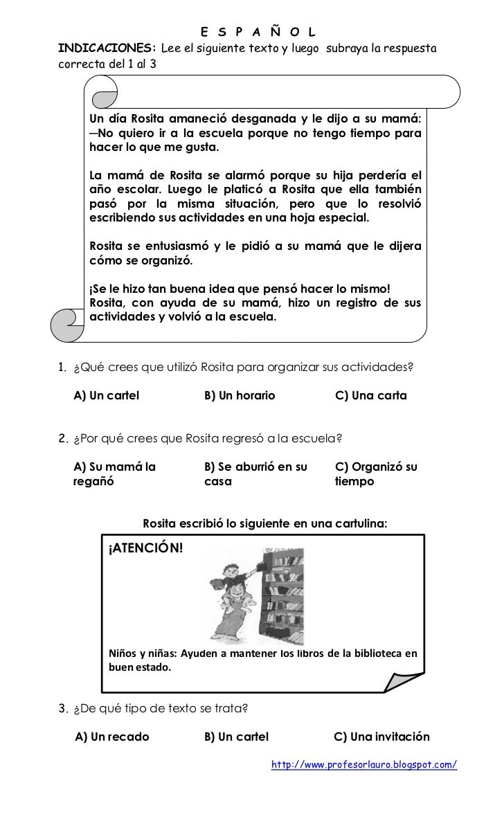 EXAMEN PRIMER GRADO DE PRIMARIA IV BIMESTRE Slide 2