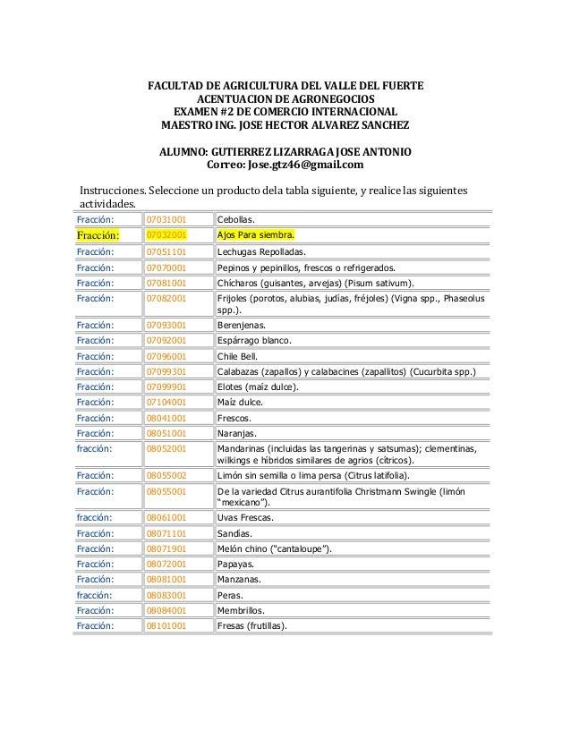 Examen 3 comercio internacional for Comercio exterior