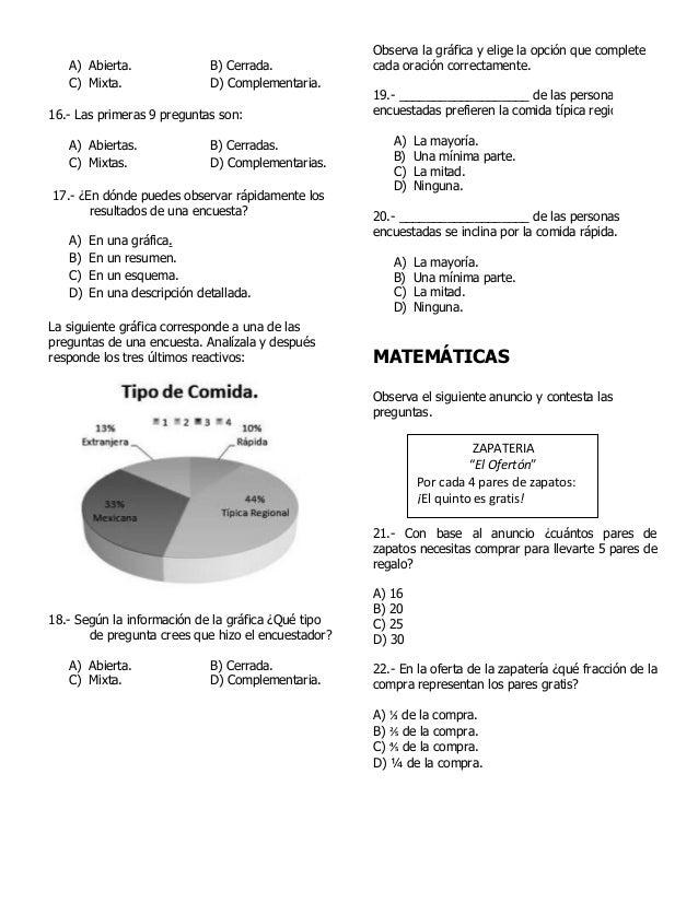 Examen 5 Grado Bimestre 5