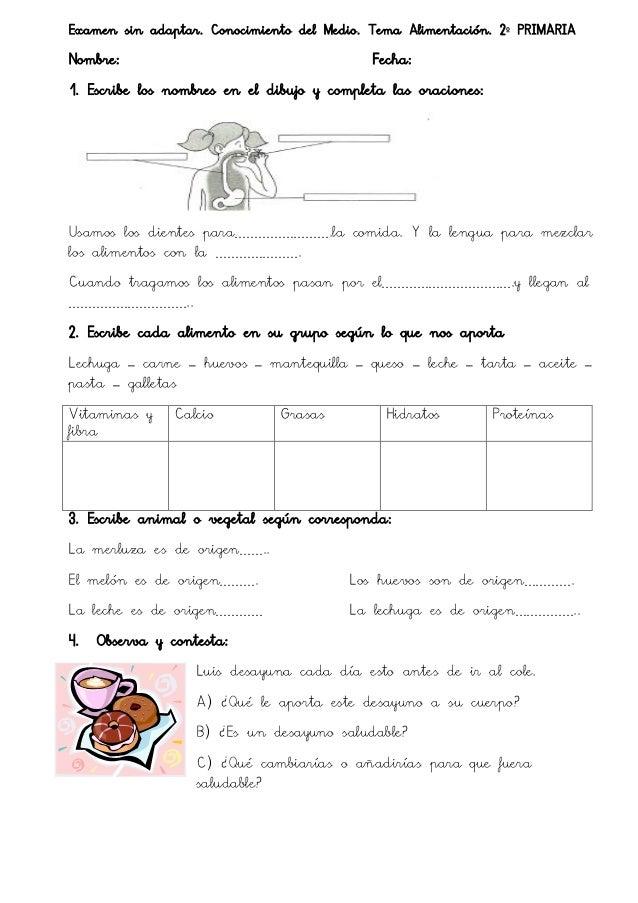 examenes de primaria