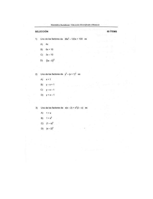 MATEMÁTICAS SOLUCIONARIO EXAMEN EDAD 2012 CONVOCATORIA            03-2012 1 D 11 C 21 C 31 A 41 A 51 D 2 C 12 D 22 B 32 D ...