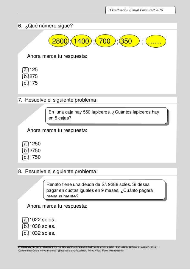 ELABORADO POR LIC. MIRKO A. VILCA BENANCIO – DOCENTE FORTALEZA DE LA UGEL PACHITEA- REGIÓN HUÁNUCO 2016. Correo electrónic...