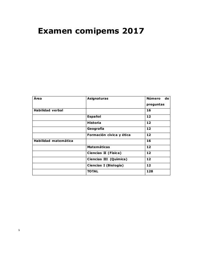 Examen Comipems