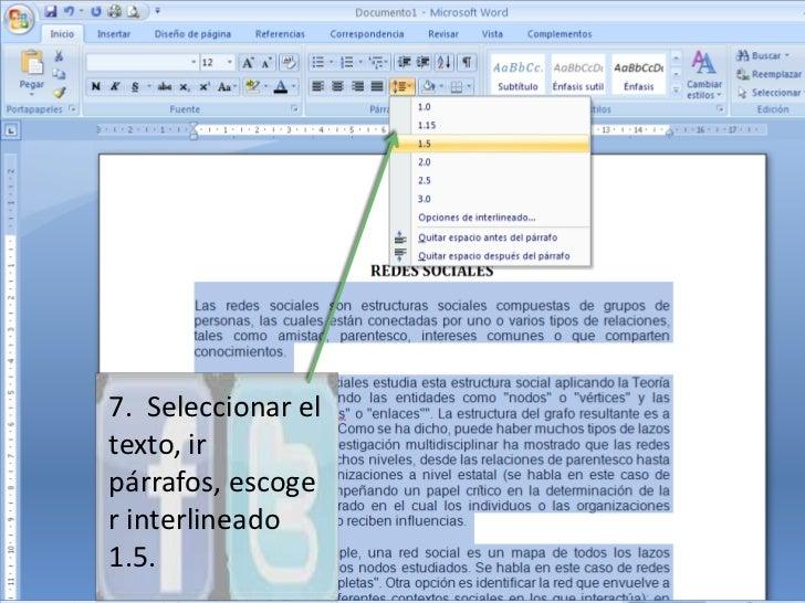 Tutorial para presentar un informe for En word cual es el interlineado