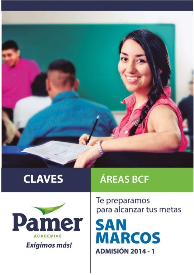 Examen de admisión SAN MARCOS 2014-ISolucionario AcademiasPamer 1Pág.