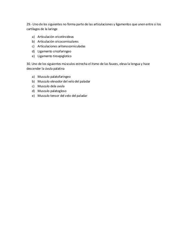 Examen de anatomia cabeza y cuello
