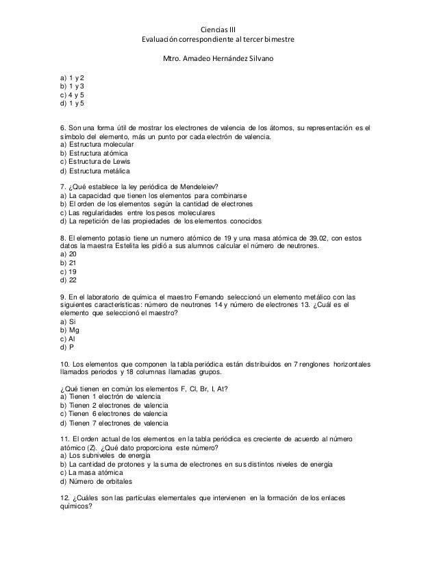 Examen de ciencias 3 urtaz Choice Image