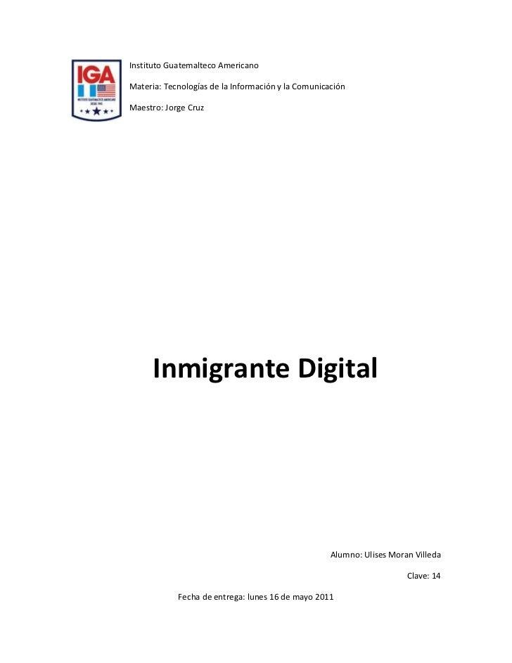 lefttopInstituto Guatemalteco Americano<br />Materia: Tecnologías de la Información y la Comunicación <br />Maestro: Jorge...