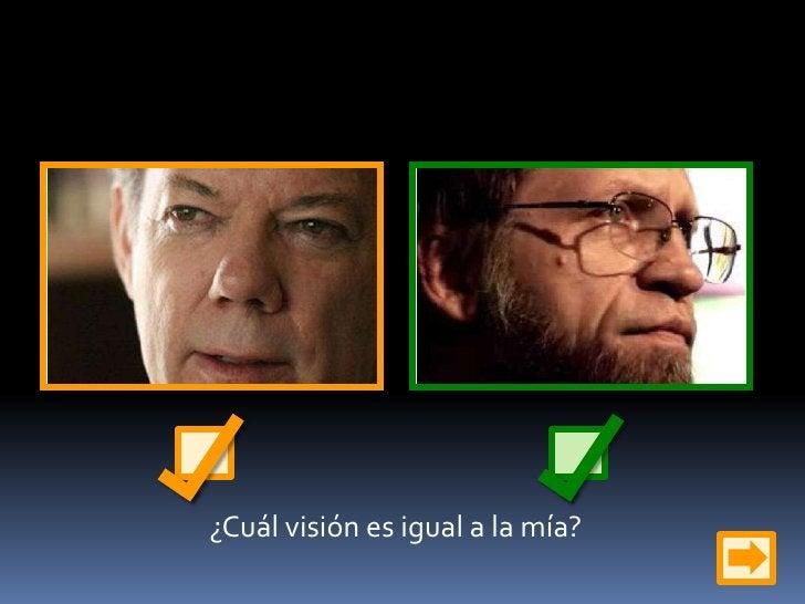 ¿Cuál visión es igual a la mía?<br />