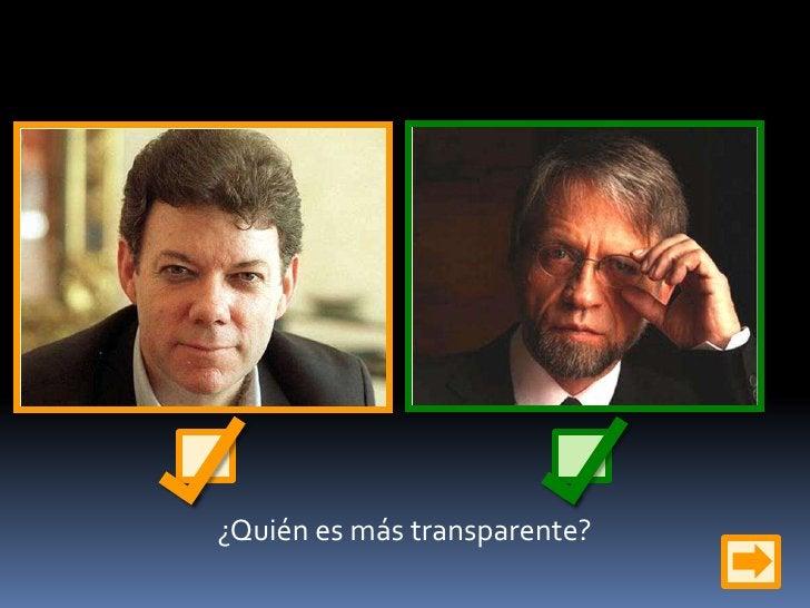 ¿Quién es más transparente?<br />