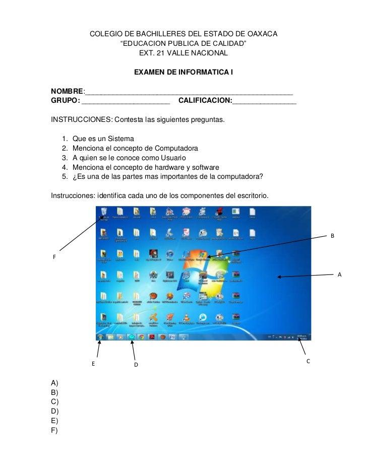 """COLEGIO DE BACHILLERES DEL ESTADO DE OAXACA                     """"EDUCACION PUBLICA DE CALIDAD""""                          EX..."""