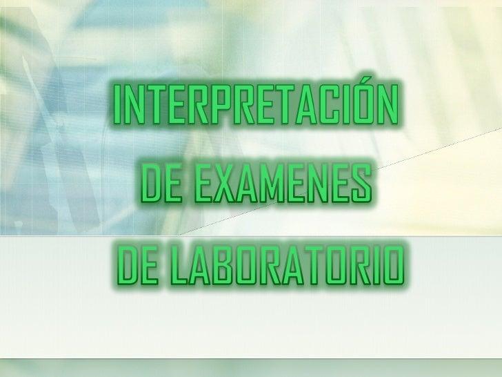 TOMA DE MUESTRA DE LABORATORIO           Realizado en forma individualAlgunosfactores que                 Endógenosalteran...
