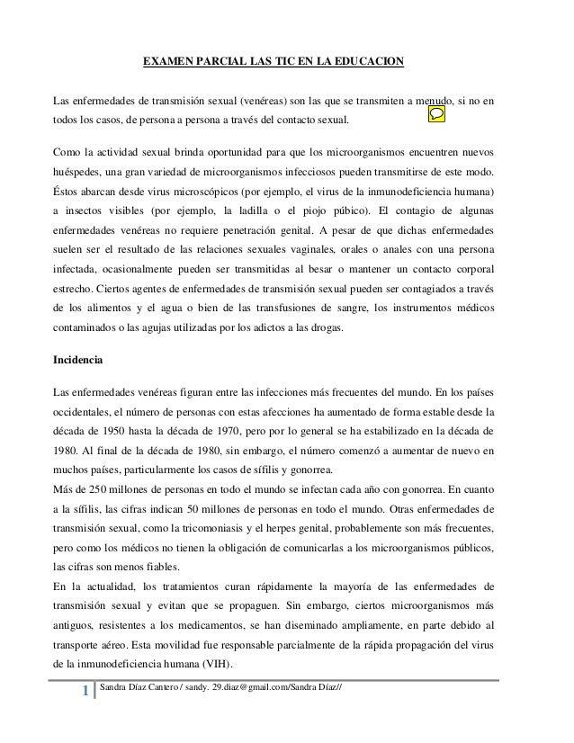 1 Sandra Díaz Cantero / sandy. 29.diaz@gmail.com/Sandra Díaz// EXAMEN PARCIAL LAS TIC EN LA EDUCACION Las enfermedades de ...