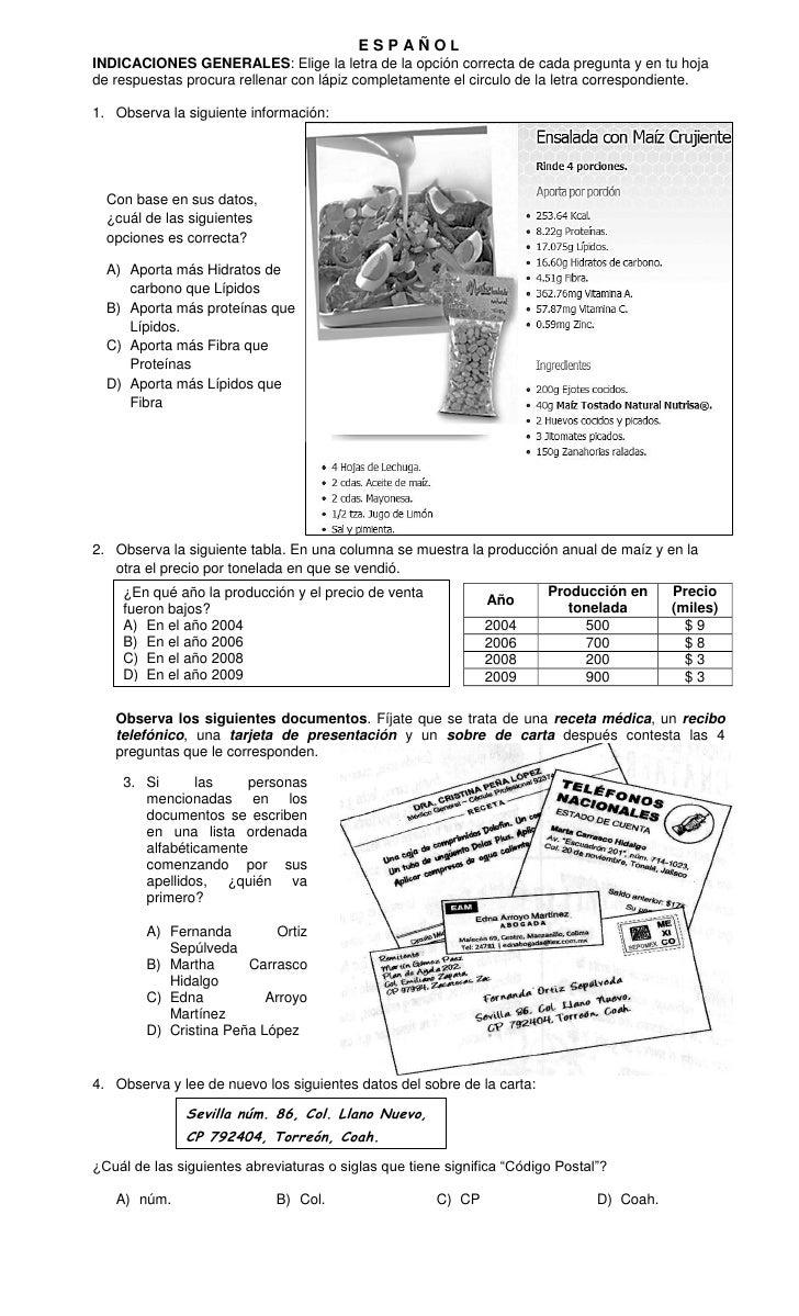 Examen del quinto bimestre 2011 2012