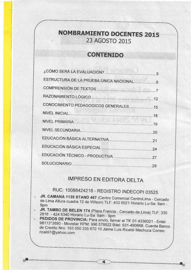 Examen de nombramiento docente agosto 2015 tecnico productivo Slide 2
