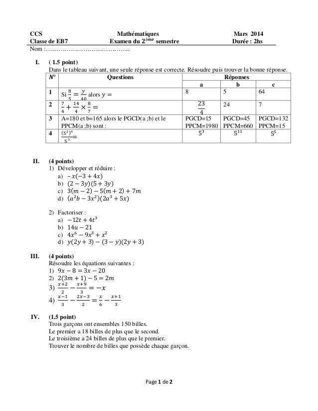Examen Du 2 Semestre Eb7