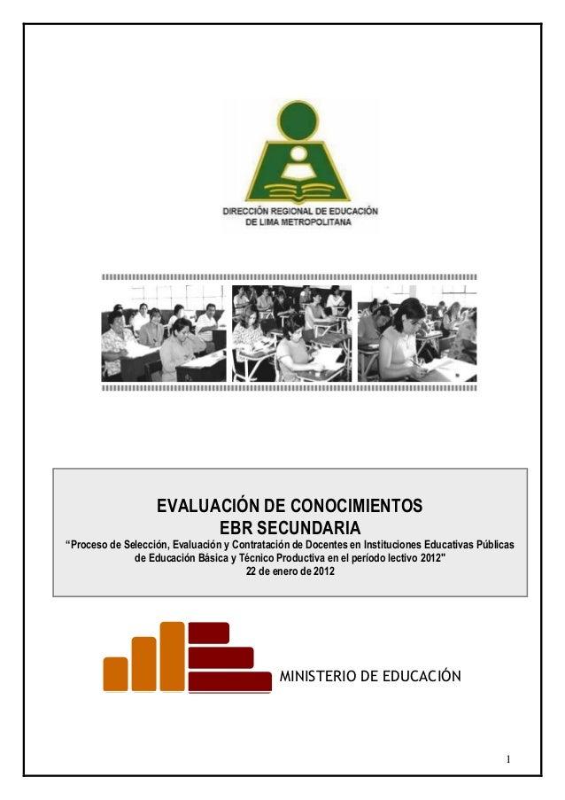 Examen Ebr Secundaria Drelima 2012