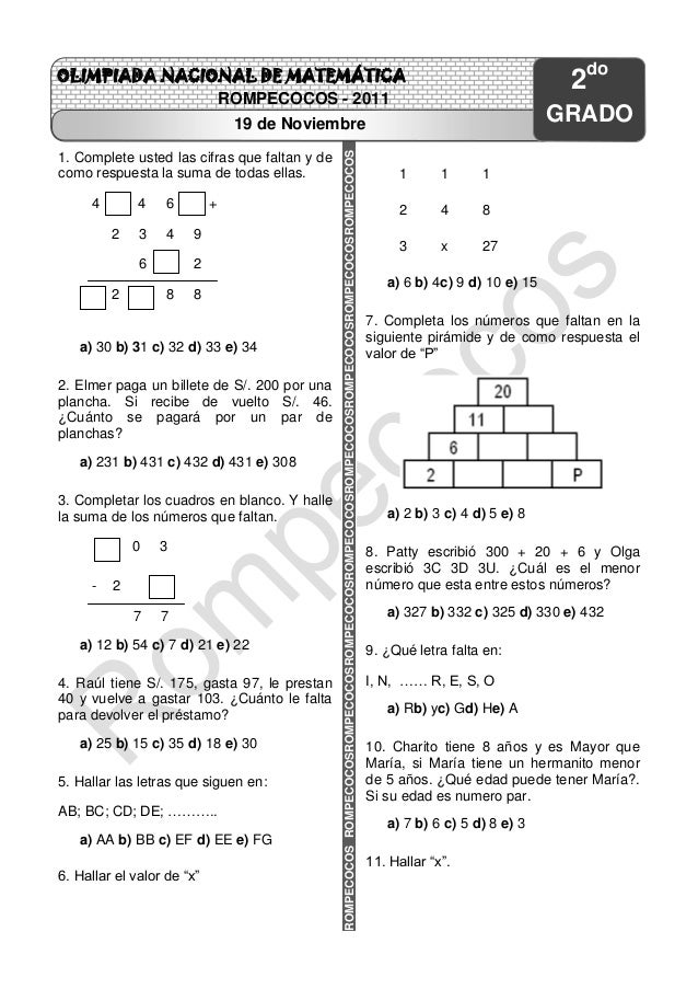 Examen ejercicios matemática octubre Slide 3