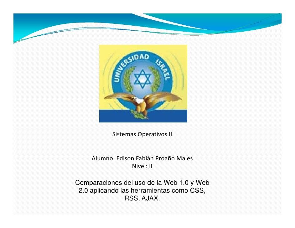 SistemasOperativosII        Alumno:EdisonFabiánProañoMales      Al      Edi    F biá P ñ M l                   Nivel...