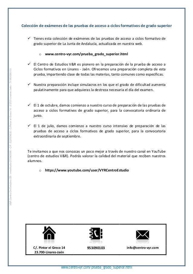 Examenes De Ingles Grado Superior Andalucia