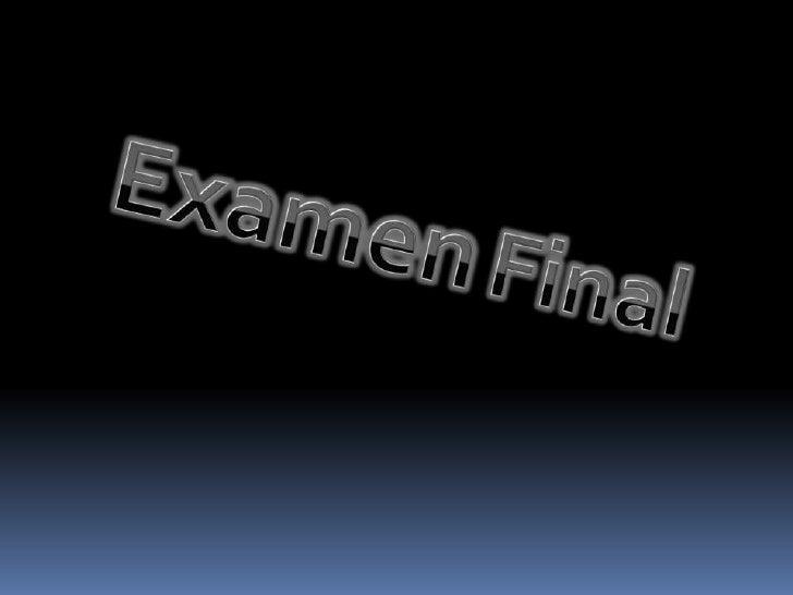 ExamenFinal<br />