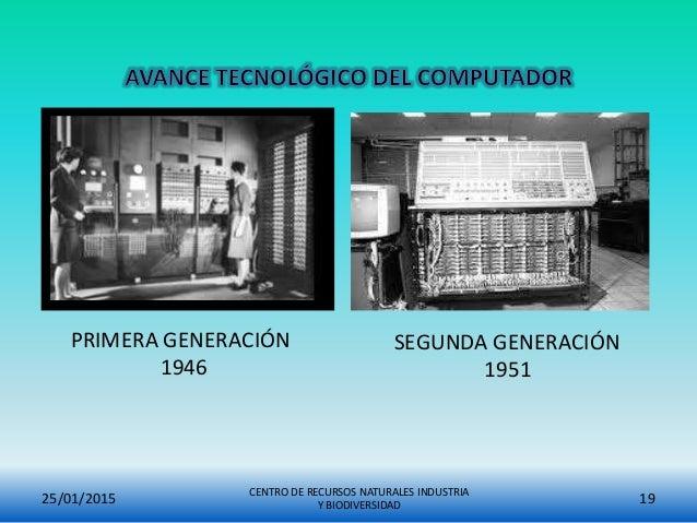 25/01/2015 CENTRO DE RECURSOS NATURALES INDUSTRIA Y BIODIVERSIDAD 19 PRIMERA GENERACIÓN 1946 SEGUNDA GENERACIÓN 1951