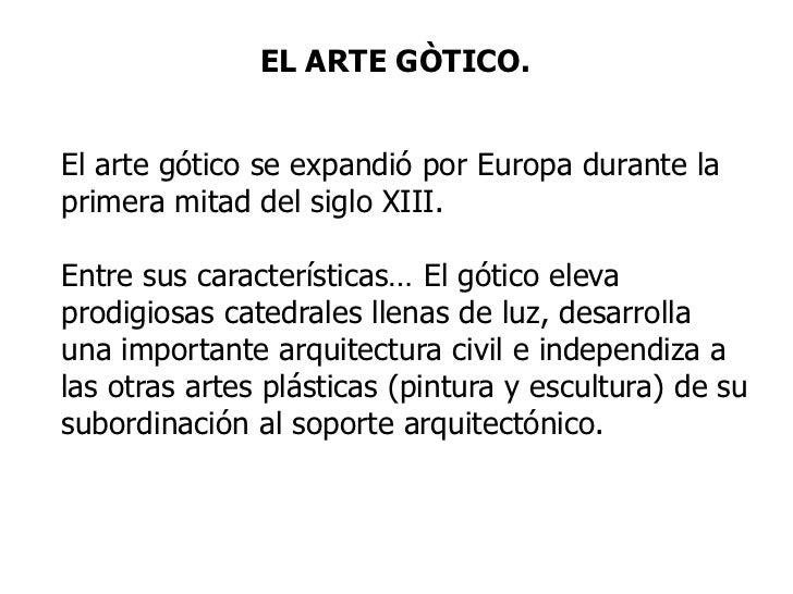 Breve Informacion Del Arte Gótico