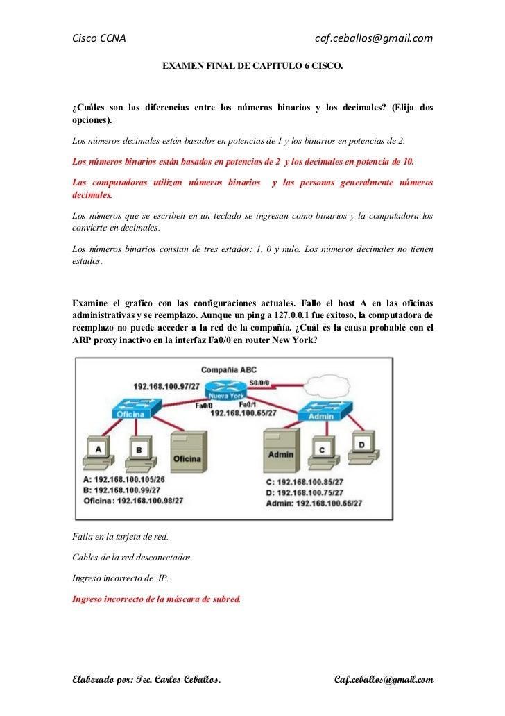Examen Final De Capitulos 5 6 7 De Cisco