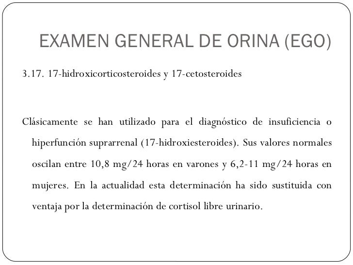 17 cetosteroides urinarios