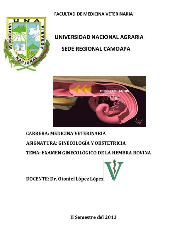 FACULTAD DE MEDICINA VETERINARIA UNIVERSIDAD NACIONAL AGRARIA SEDE REGIONAL CAMOAPA CARRERA: MEDICINA VETERINARIA ASIGNATU...