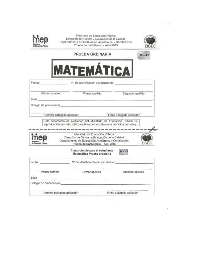 Solucionario examen de Bachillerato de Matemática aplicado Abril 20131 B 11 C 21 A 31 C 41 C 51 D2 A 12 B 22 C 32 D 42 B 5...
