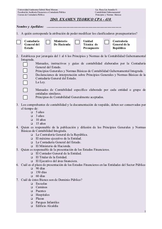 Universidad Autónoma Gabriel René Moreno                                                  Lic. Rosa Lia Arandia O. Faculta...
