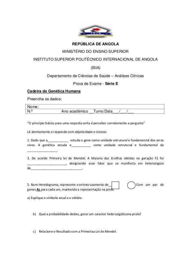 REPÚBLICA DE ANGOLA                        MINISTÉRIO DO ENSINO SUPERIOR    INSTITUTO SUPERIOR POLITÉCNICO INTERNACIONAL D...