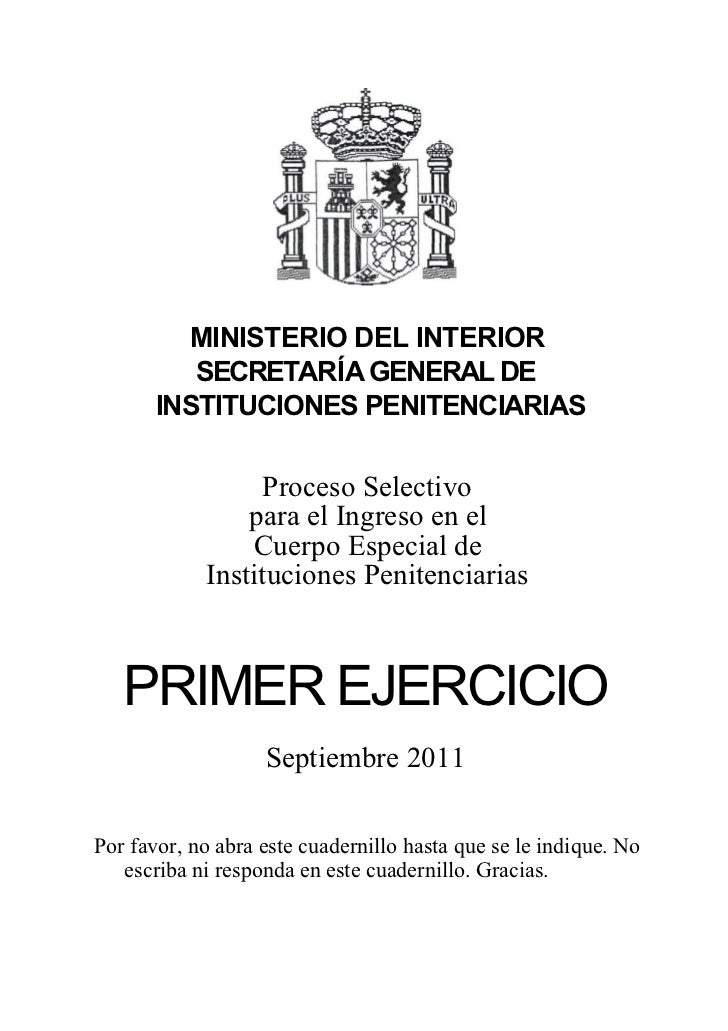 Examen pi ce2011 parte1 - Ministerio del interior oposiciones ...